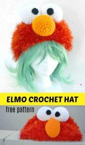 Elmo Crochet Hat kostenlose Anleitung