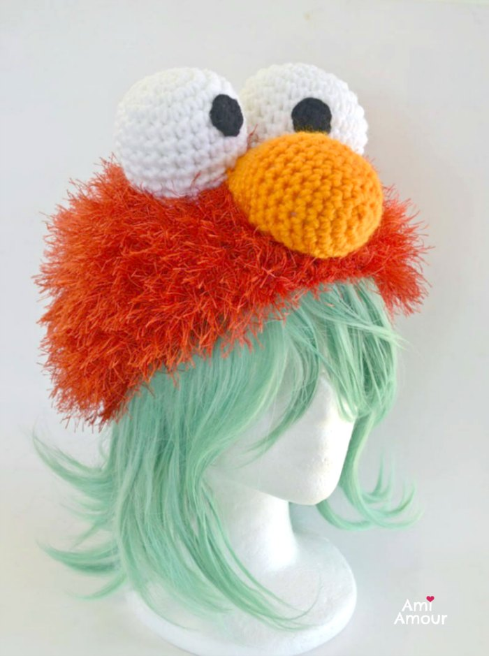 Elmo Crochet Hat Pattern