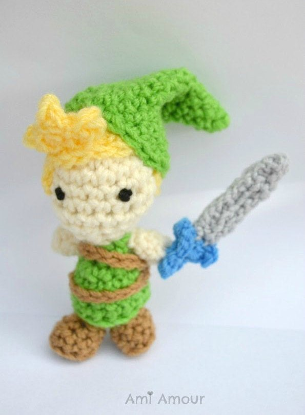 Link Crochet Doll with Sword