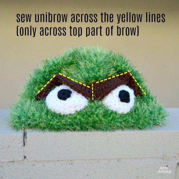 Oscar Unibrow Crochet