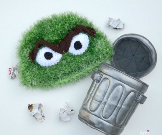 Oscar the Grouch Crochet Hat