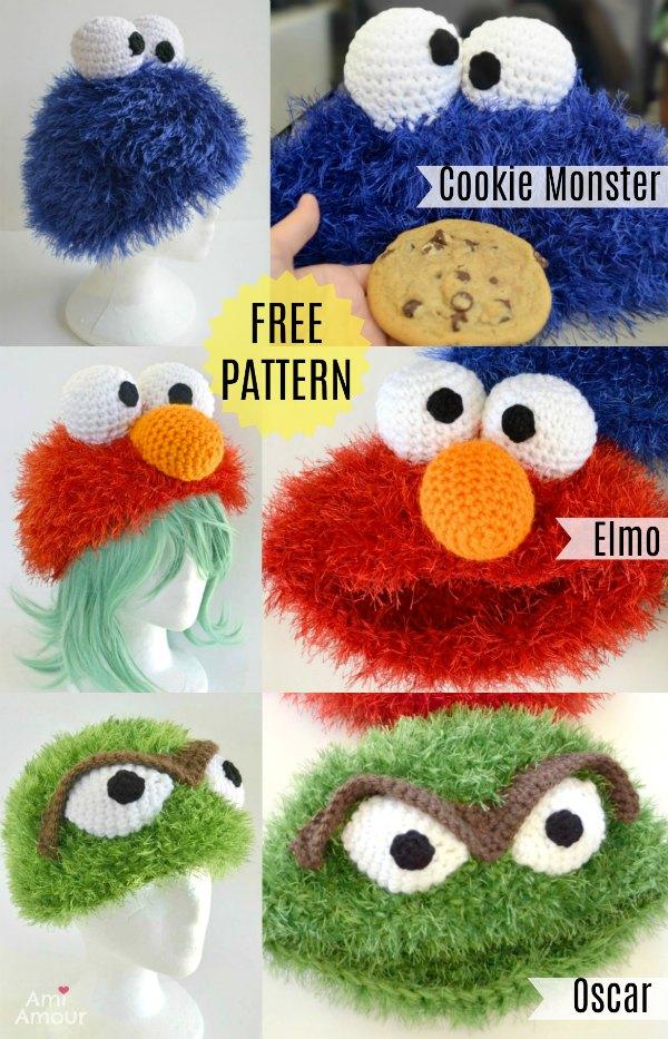 Sesamstraße Elmo kostenlose Häkelanleitung
