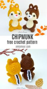 Chip and Dale Free Chipmunk Crochet Pattern
