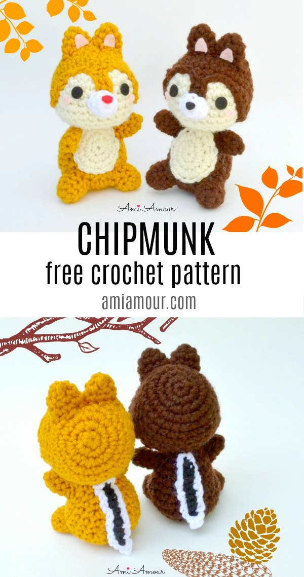 Chip and Dale Free Crochet Pattern