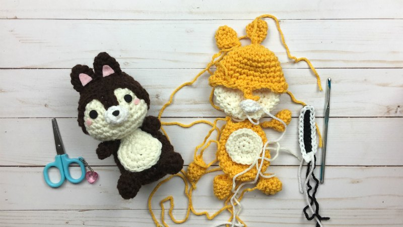 Chipmunk Crochet Amigurumi Assembly