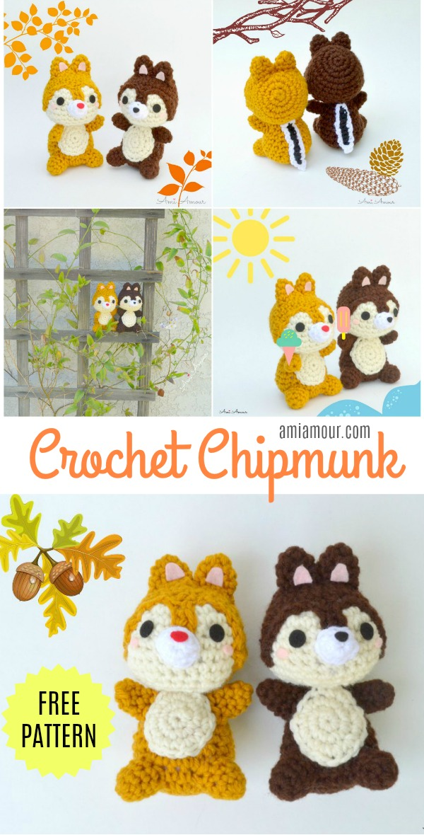 Chipmunk Amigurumi Free Pattern