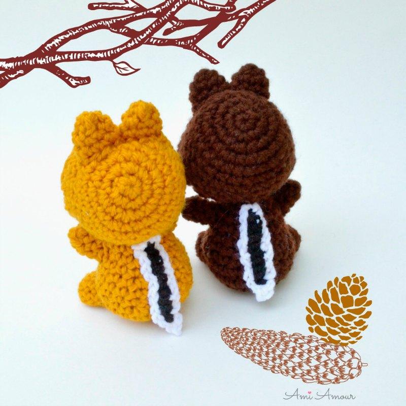 Chipmunk Amigurumi Crochet Pattern