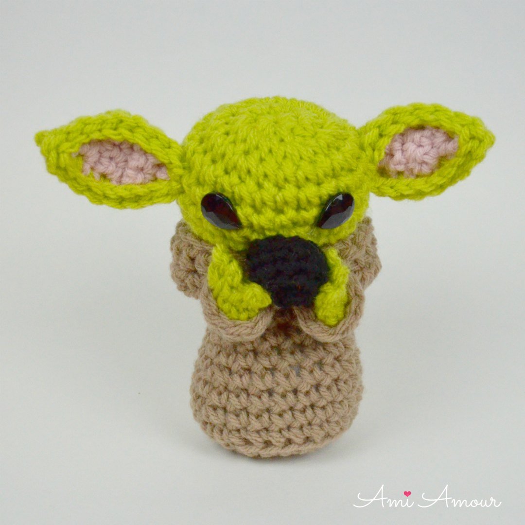 Crochet Baby Yoda Sipping Tea Meme