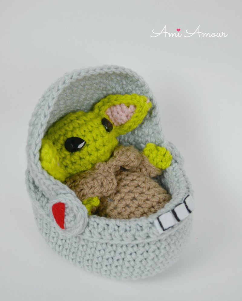 Baby Yoda in Space Cradle