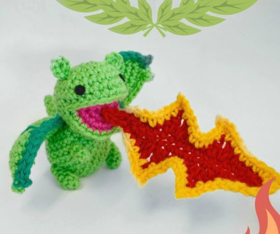 Crochet Dragon Breathing Fire