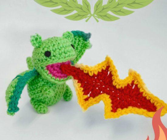 Crochet Dragon Breathing Fire