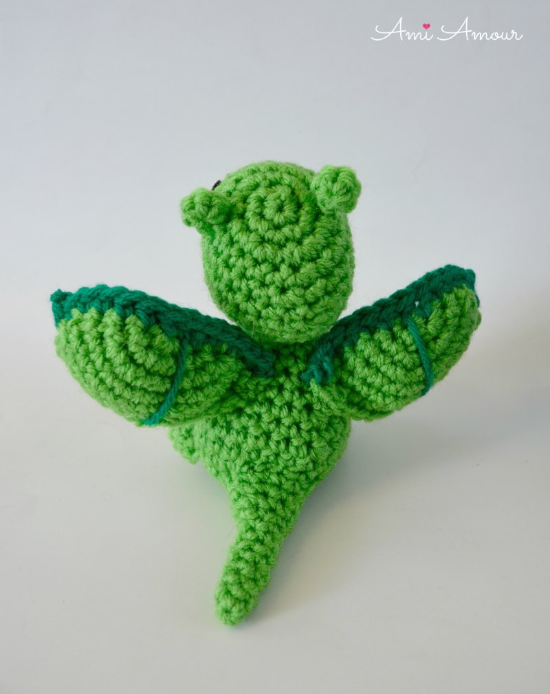 Back of Crochet Dragon