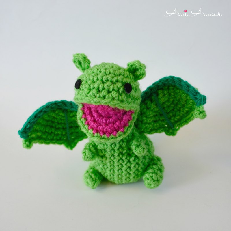 Dragon Open Mouth Amigurumi