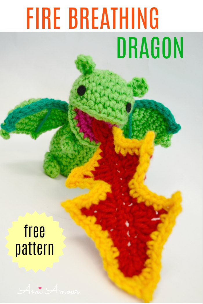 Fire Dragon Amigurumi - Free Crochet Pattern
