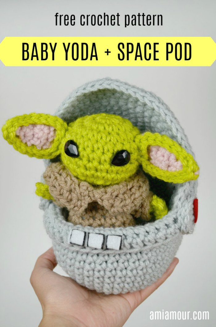 Space Pod Yoda Amigurumi - Free Crochet Pattern