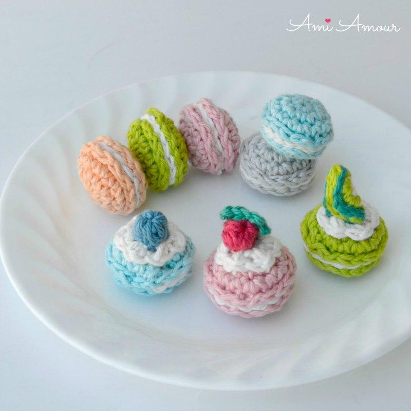 Amigurumi Macaron Toppings - Free Pattern
