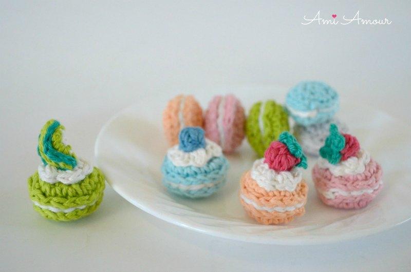 Crochet Macaron Toppings