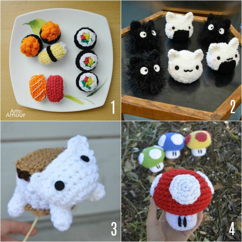 Cute Amigurumi Food Patterns - Free