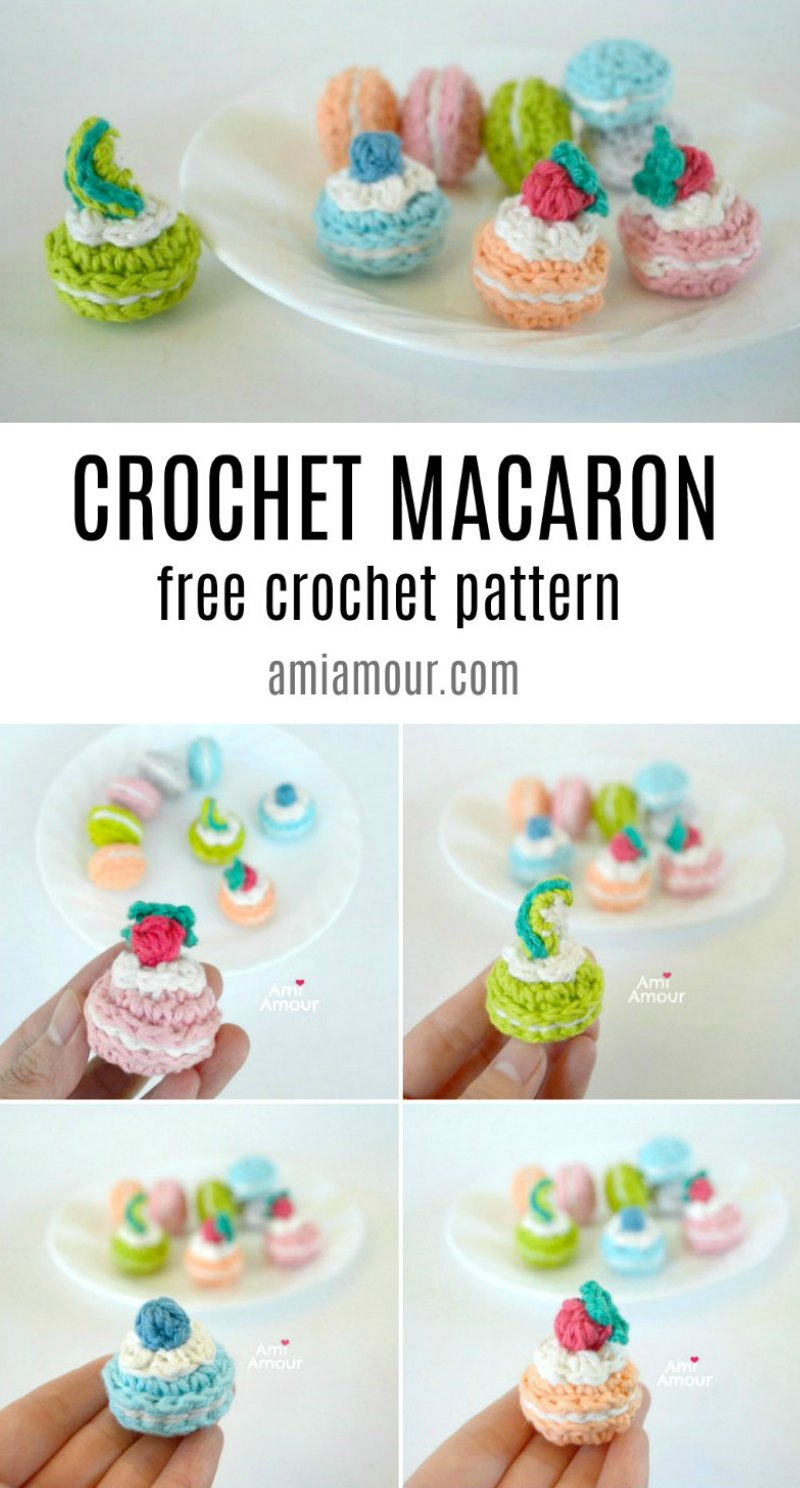 Macaron Free Crochet Pattern