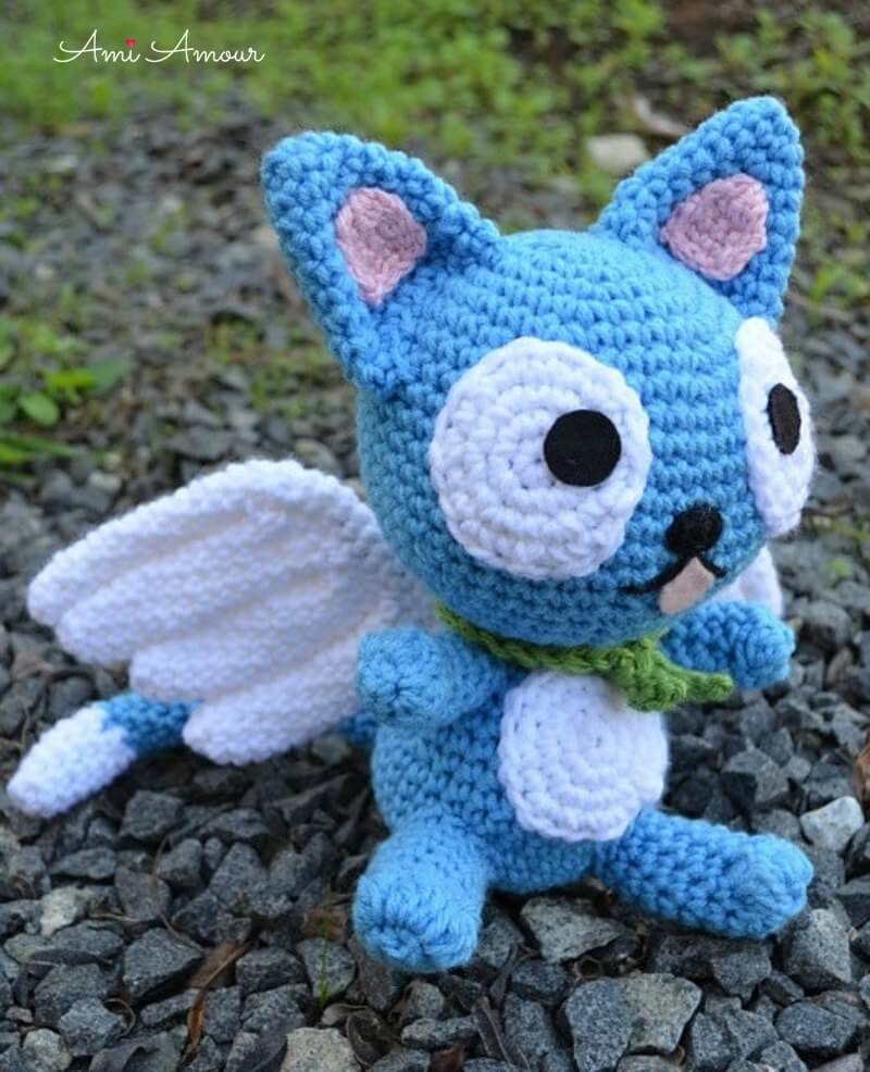 Happy Fairy Tail Cat Amigurumi Crochet