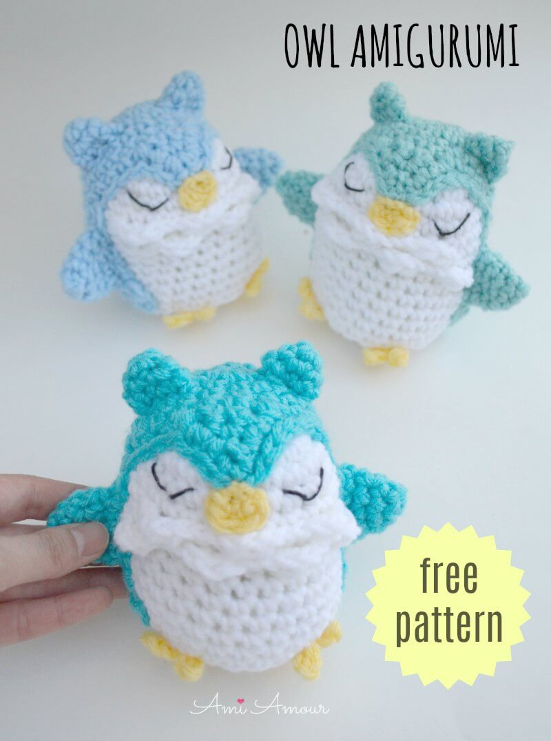 58 Crochet Owls (Free Patterns) | AllFreeCrochet.com | 1075x800