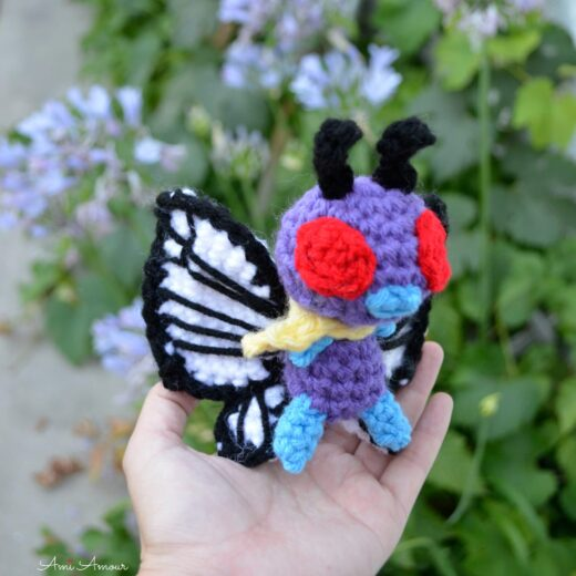 Butterfree Amigurumi Held in Hand