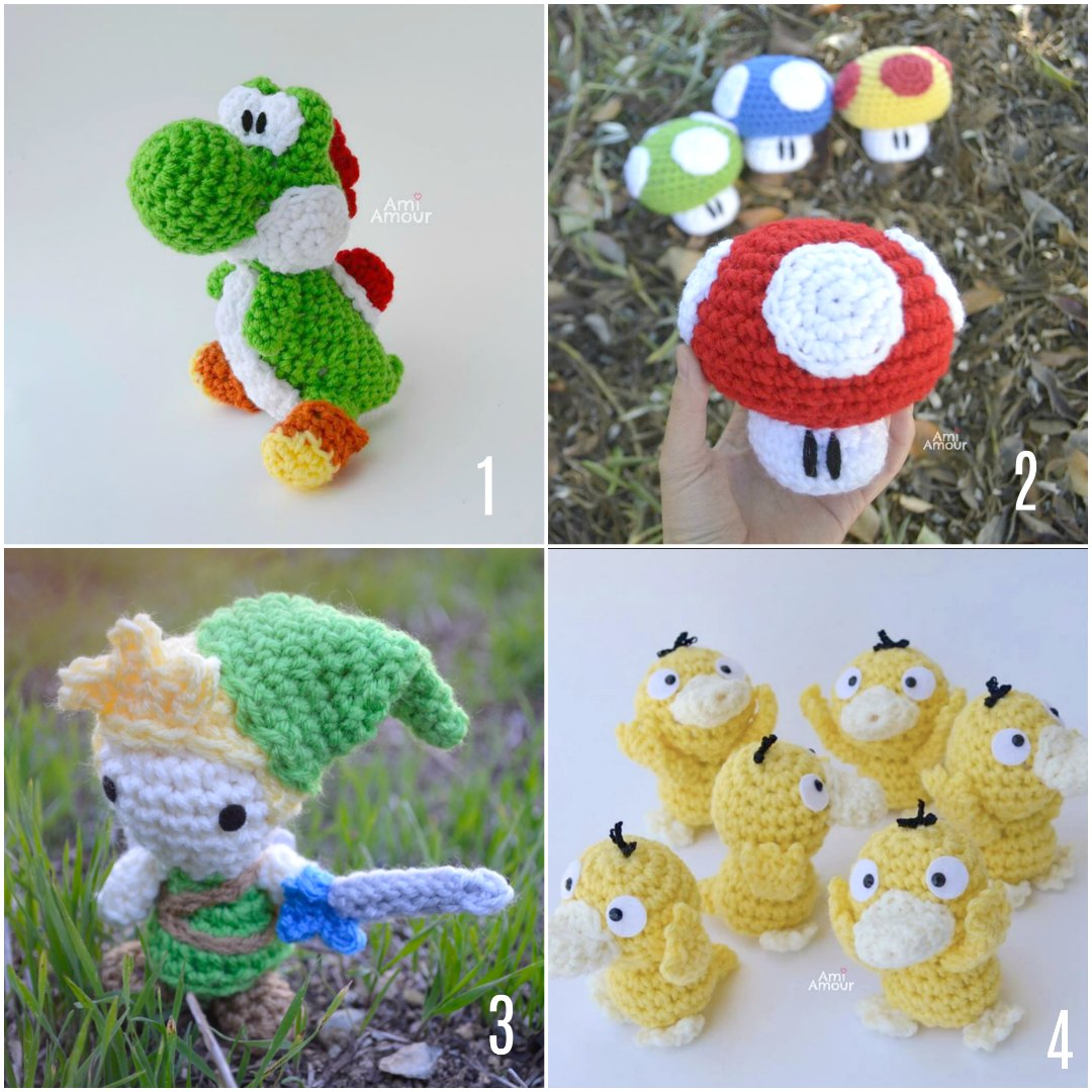 Ami Amour Free Crochet Patterns for Gamers