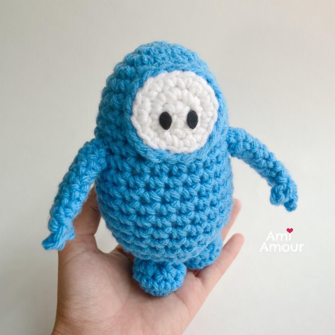 Fall Guys Crochet in Blue