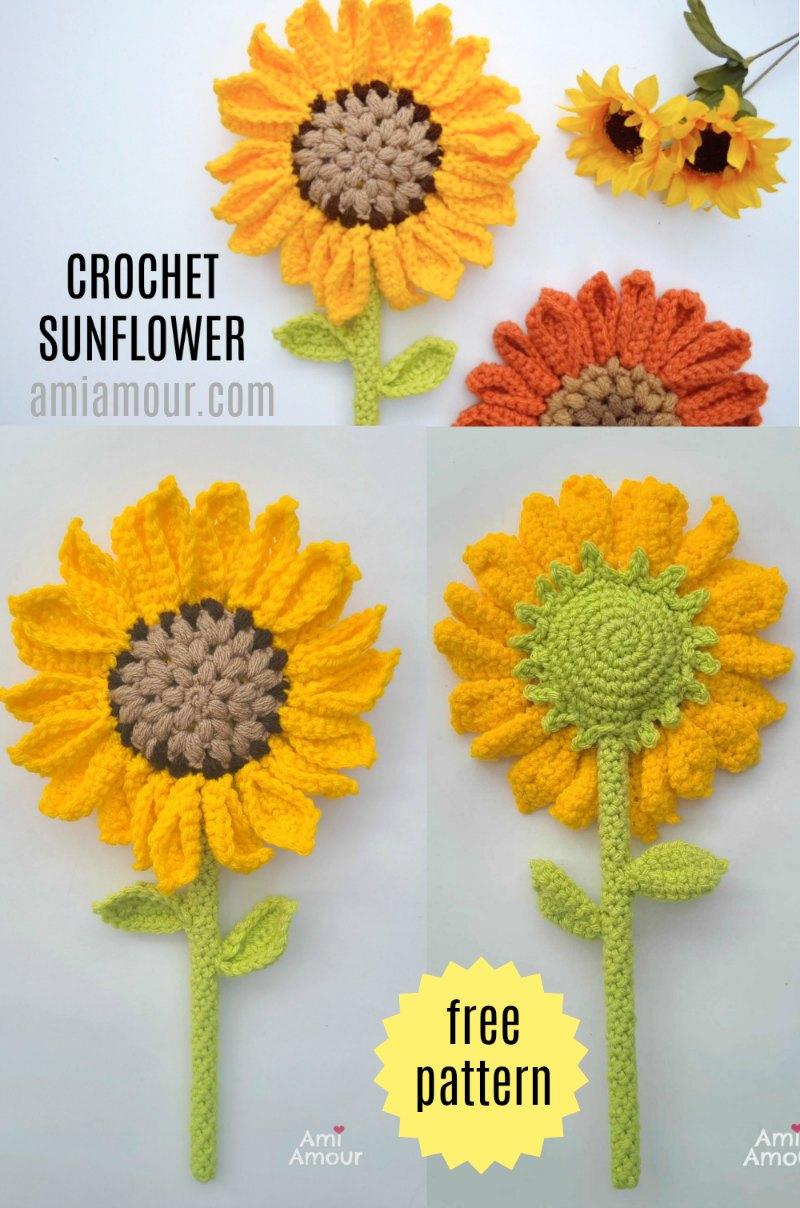 Crochet Sunflower Amigurumi - Free Pattern