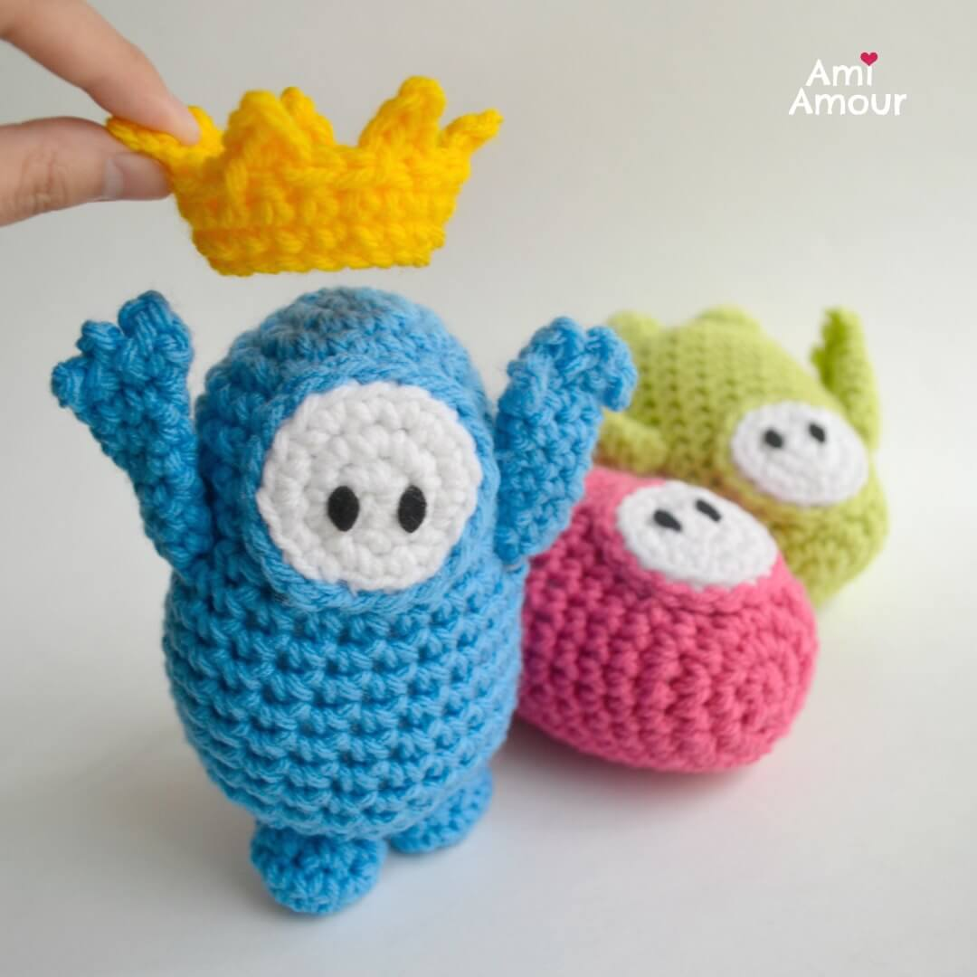 Fall Guys Amigurumi Crochet Pattern