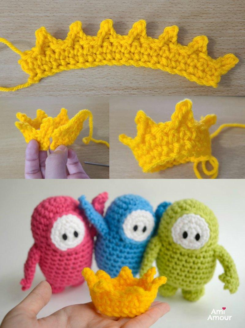 Fall Guys Crown Crochet Pattern