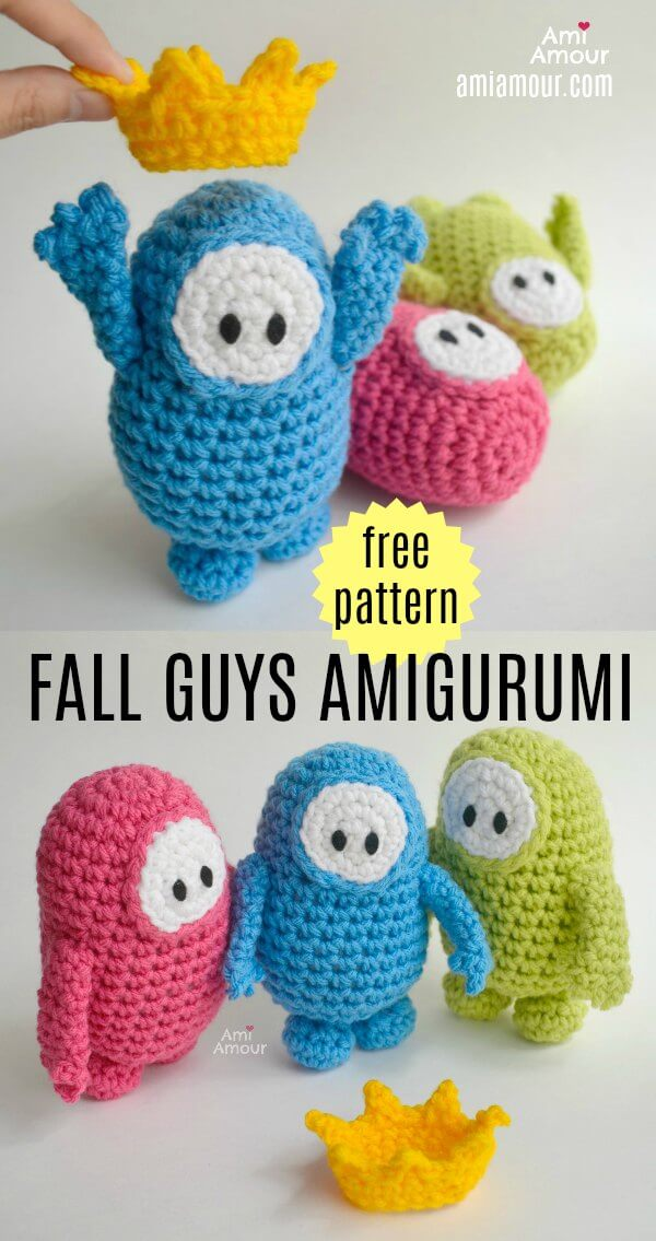 Fall Guys Amigurumi - Free Crochet Pattern
