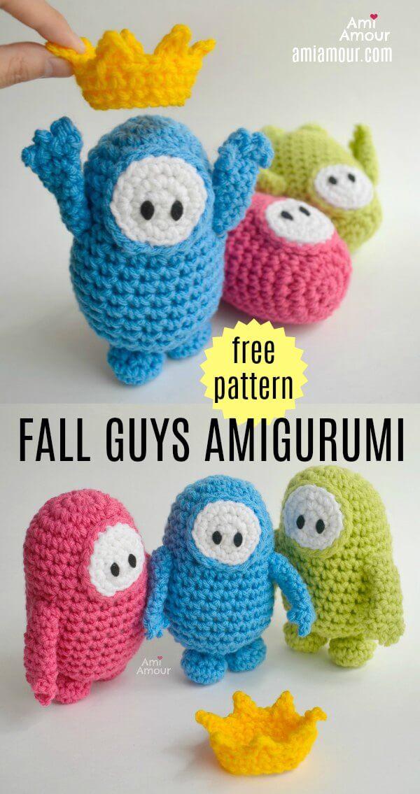 Fall Guys Amigurumi - Free Crochet Pattern