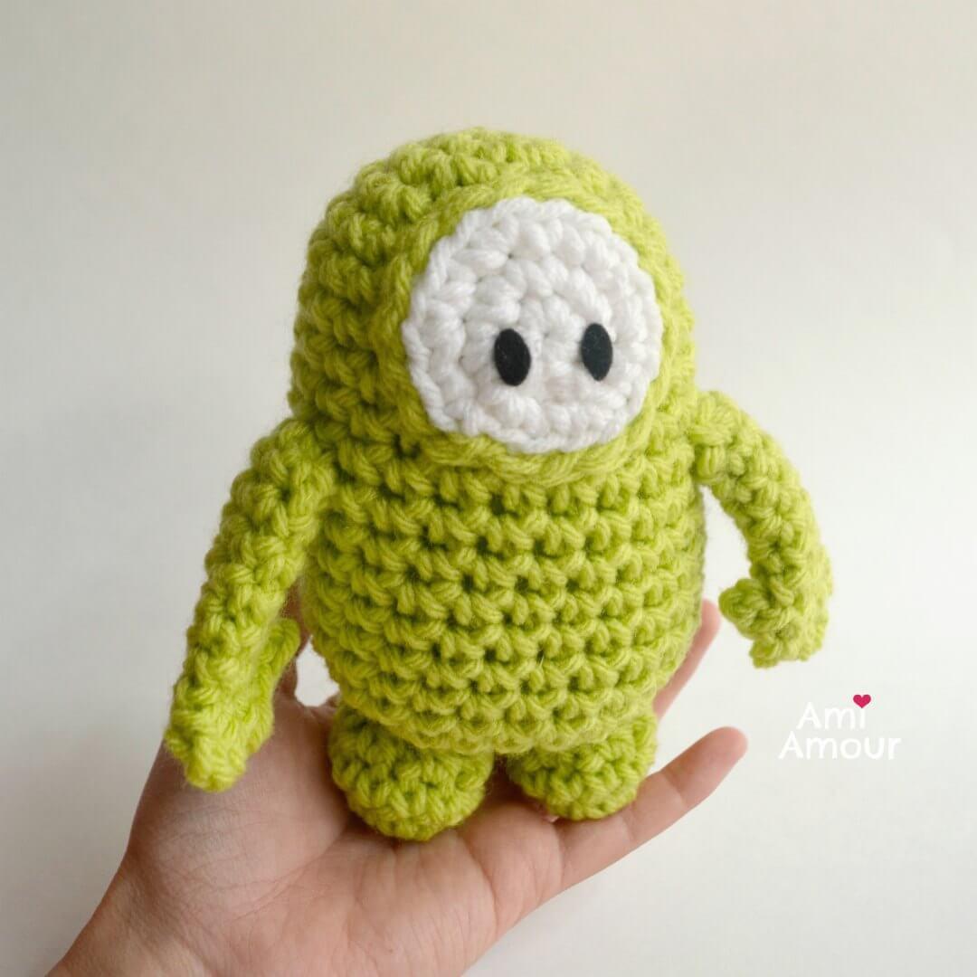 Crochet Fall Guys - Green Version