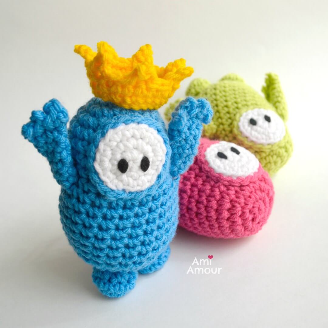 Crochet Fall Guys Winner Crowned