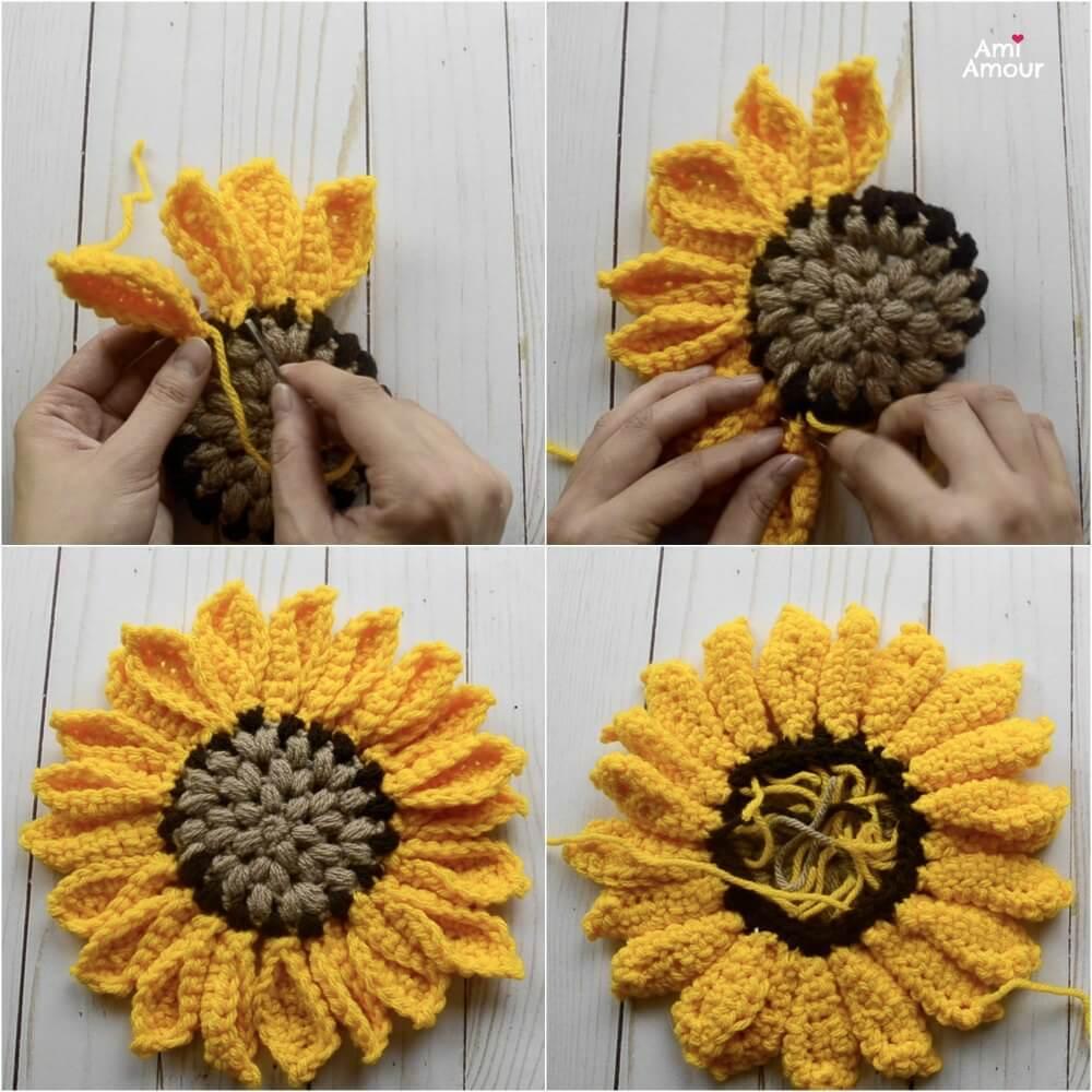 Sunflower Crochet Assembly