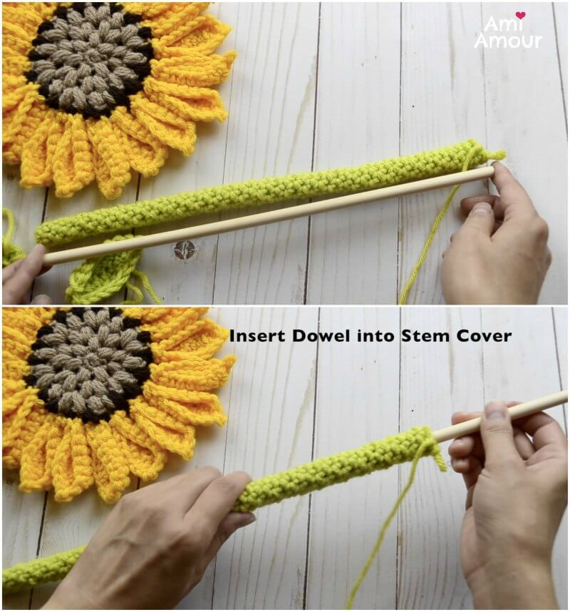 How to Crochet Sunflower Stem