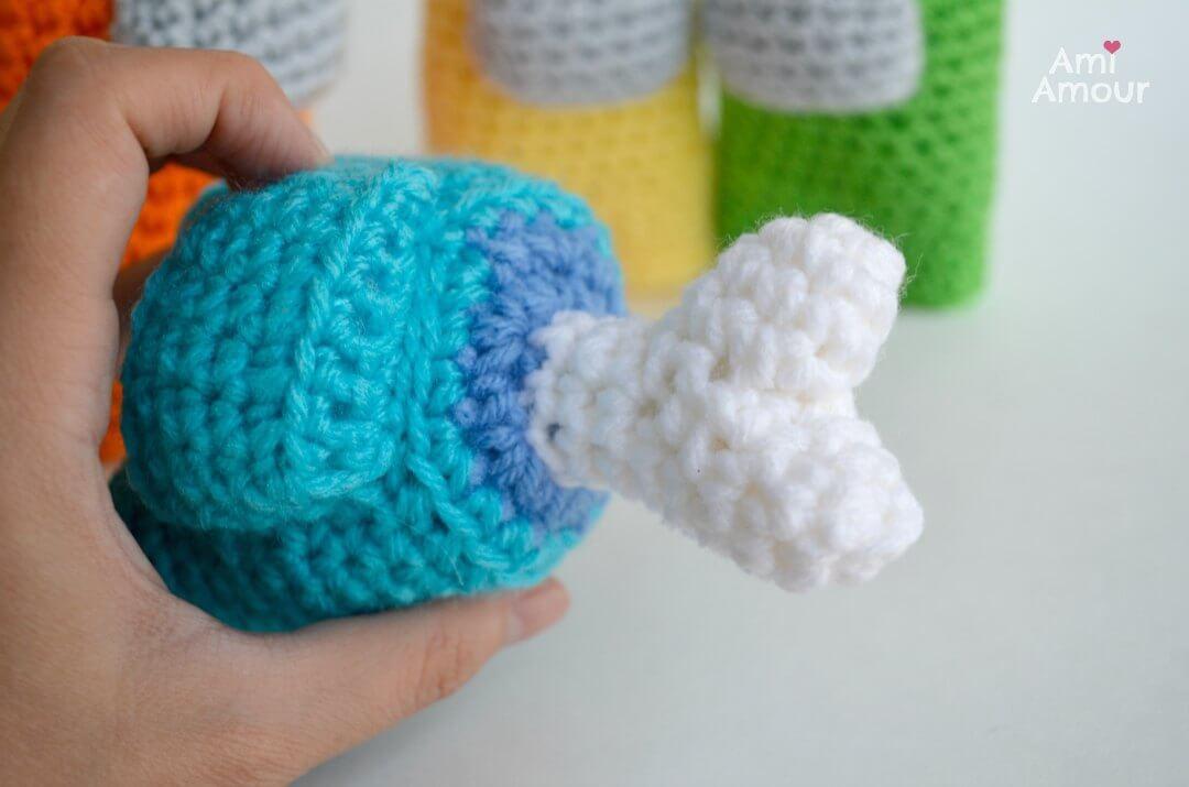 Among Us Crochet Dead Body