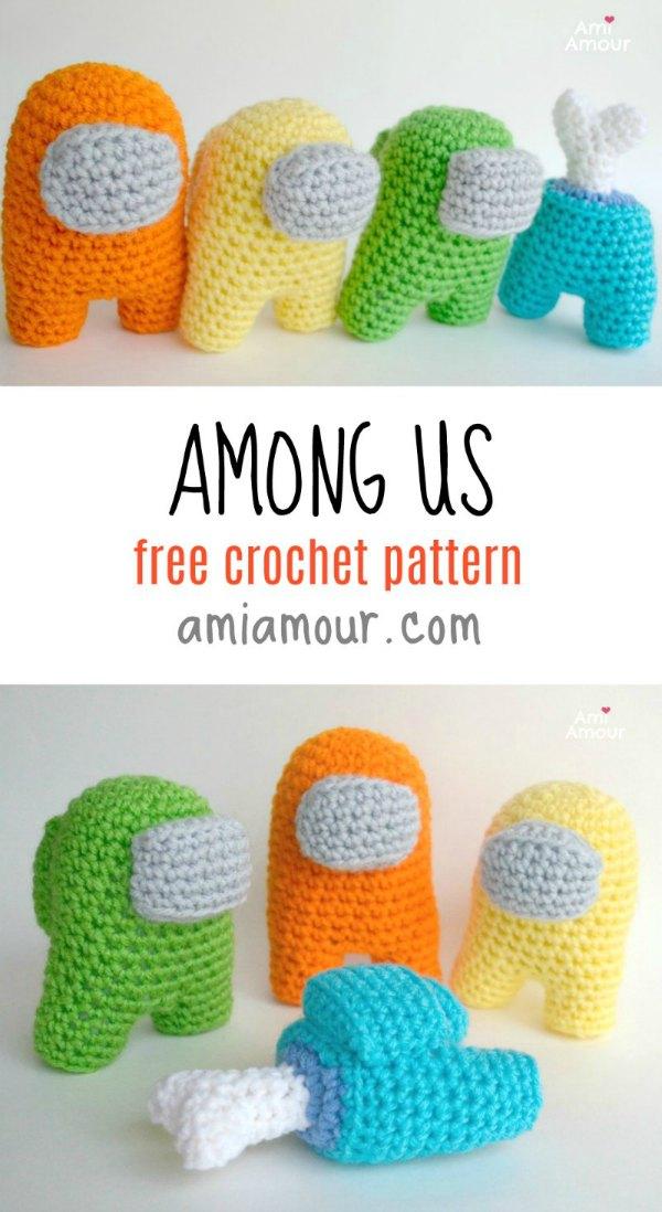 Among Us Free Amigurumi Pattern