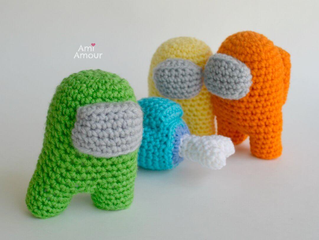 Among Us Crochet - Green Acting Sus