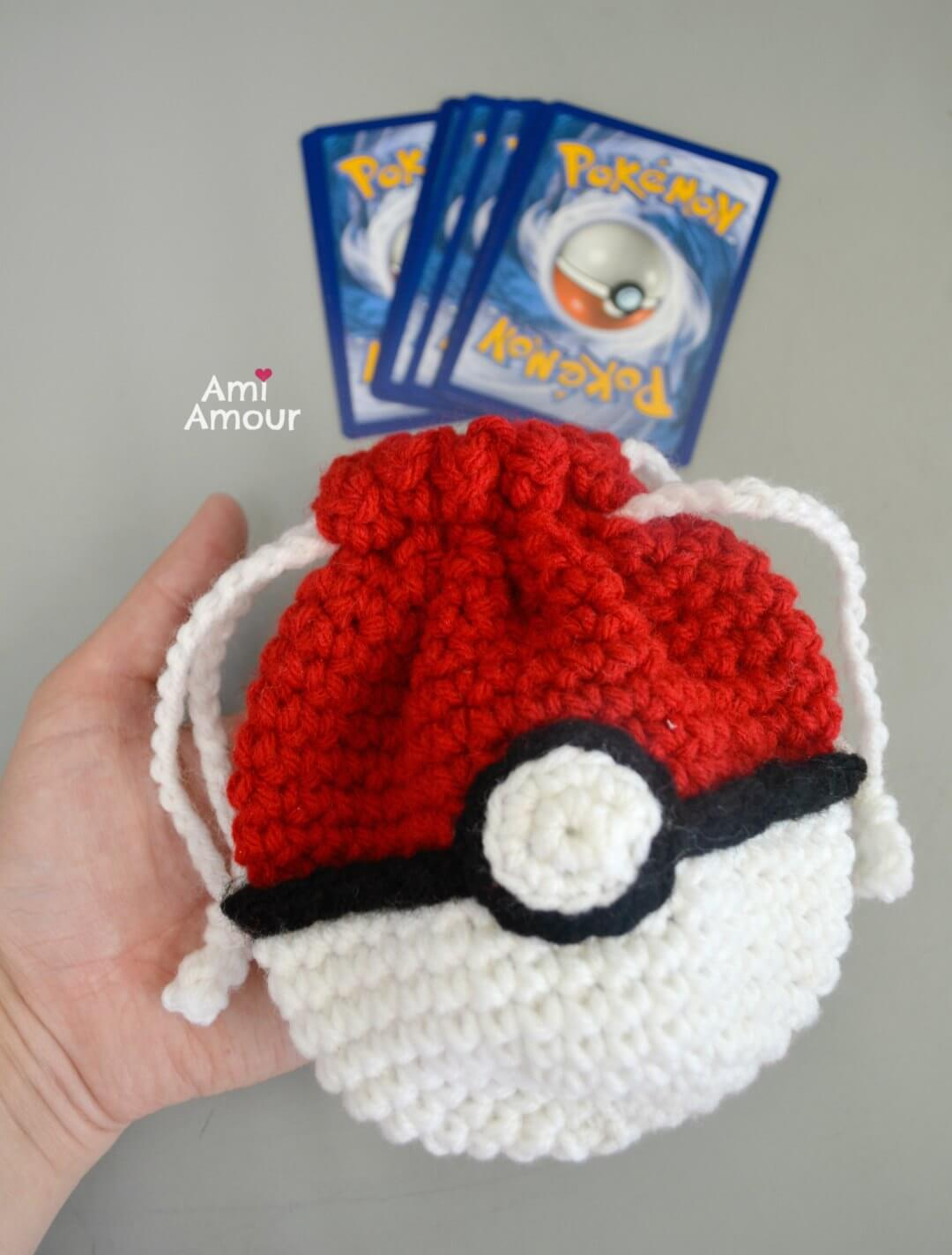 Crochet Pokeball Bag - Free Pattern