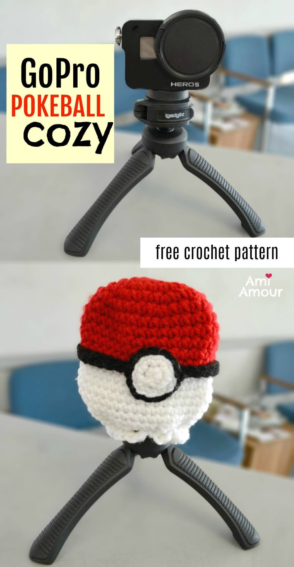 GoPro Pokeball Crochet Cozy