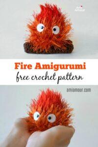 Calcifer Fire Amigurumi Pattern - Free