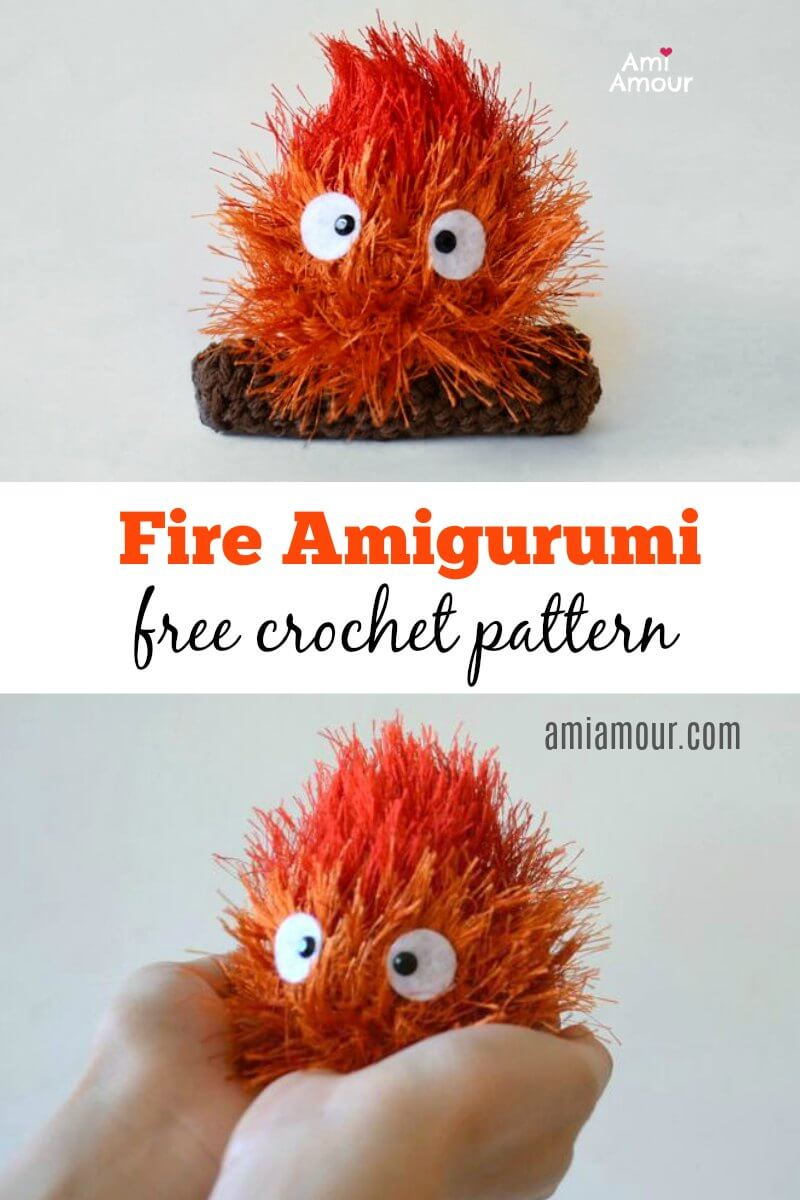 Calcifer Fire Amigurumi Crochet Pattern - Free
