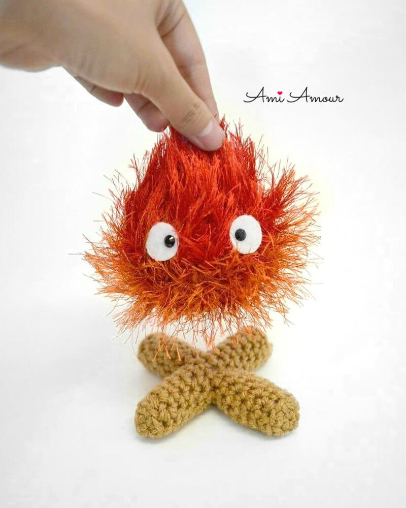 Crochet Fire Calcifer Amigurum