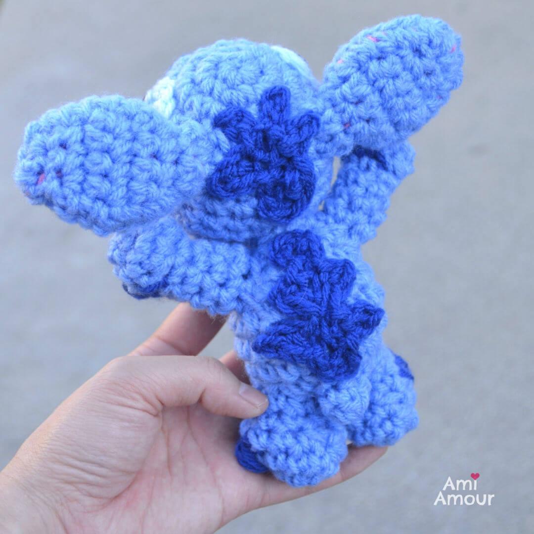 Crochet Lilo and Stitch Back