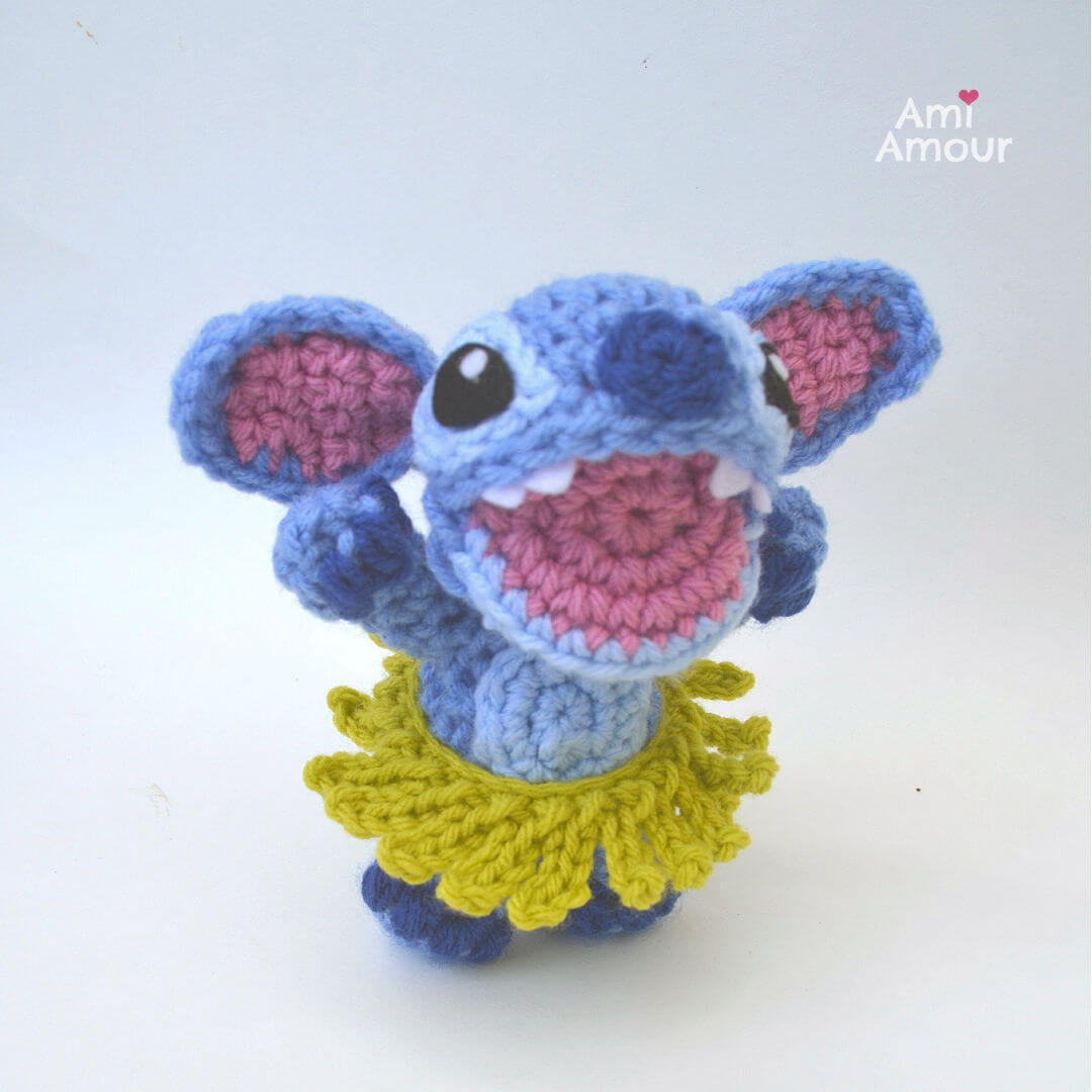 Stitch Amigurumi in a Crochet Hula Skirt