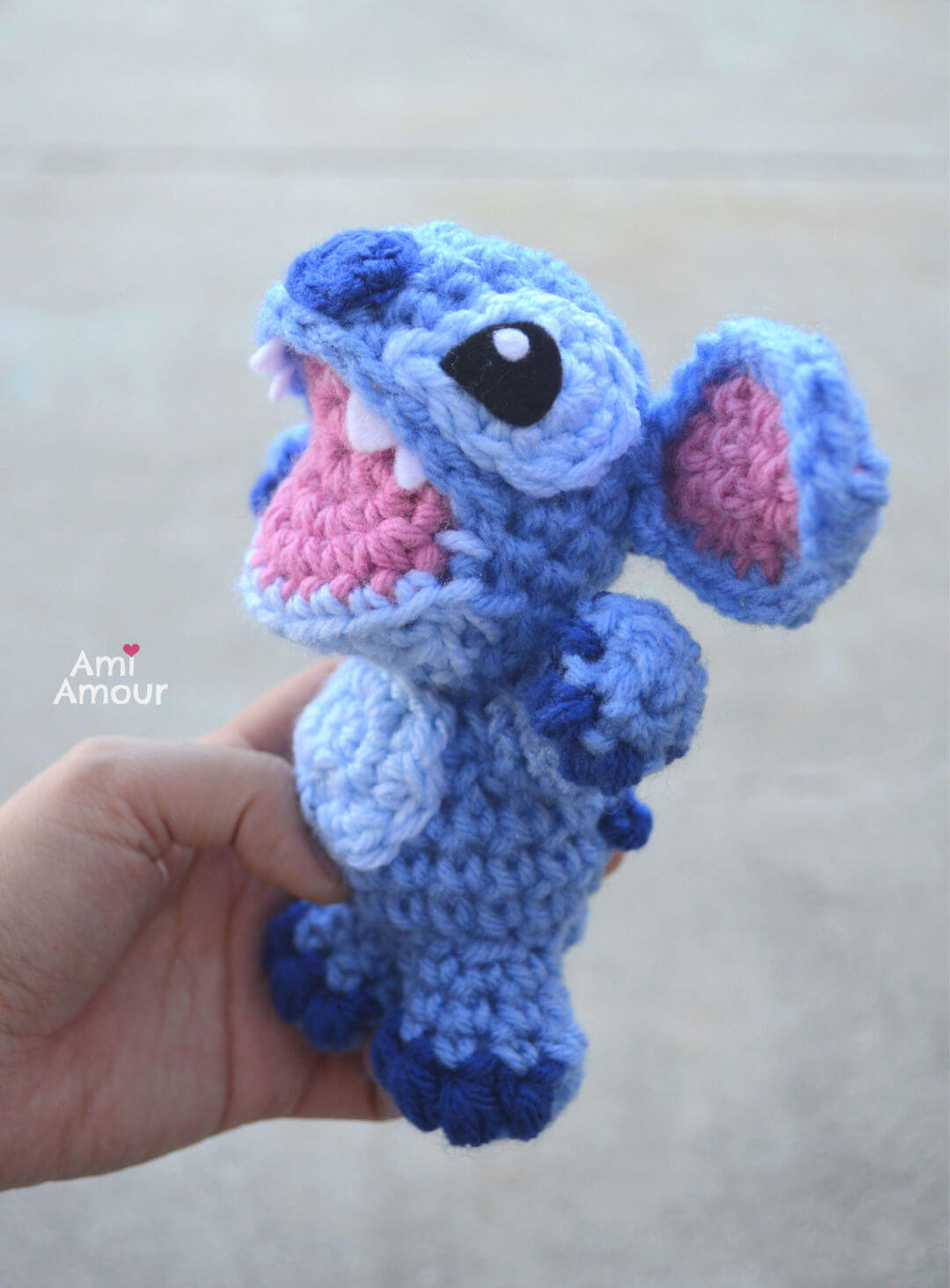 Stitch Amigurumi - Crochet Open Mouth