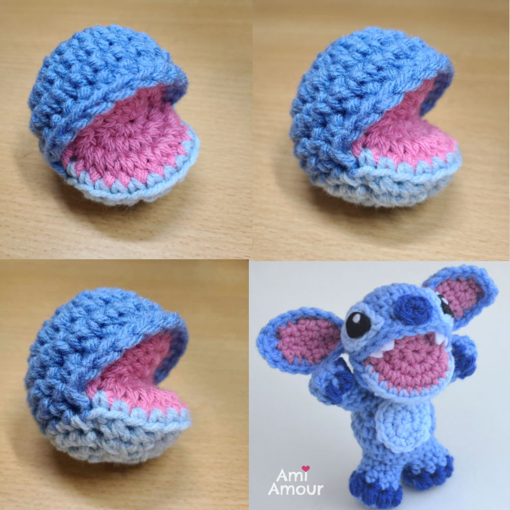 Stitch with Open Mouth Pattern Design
