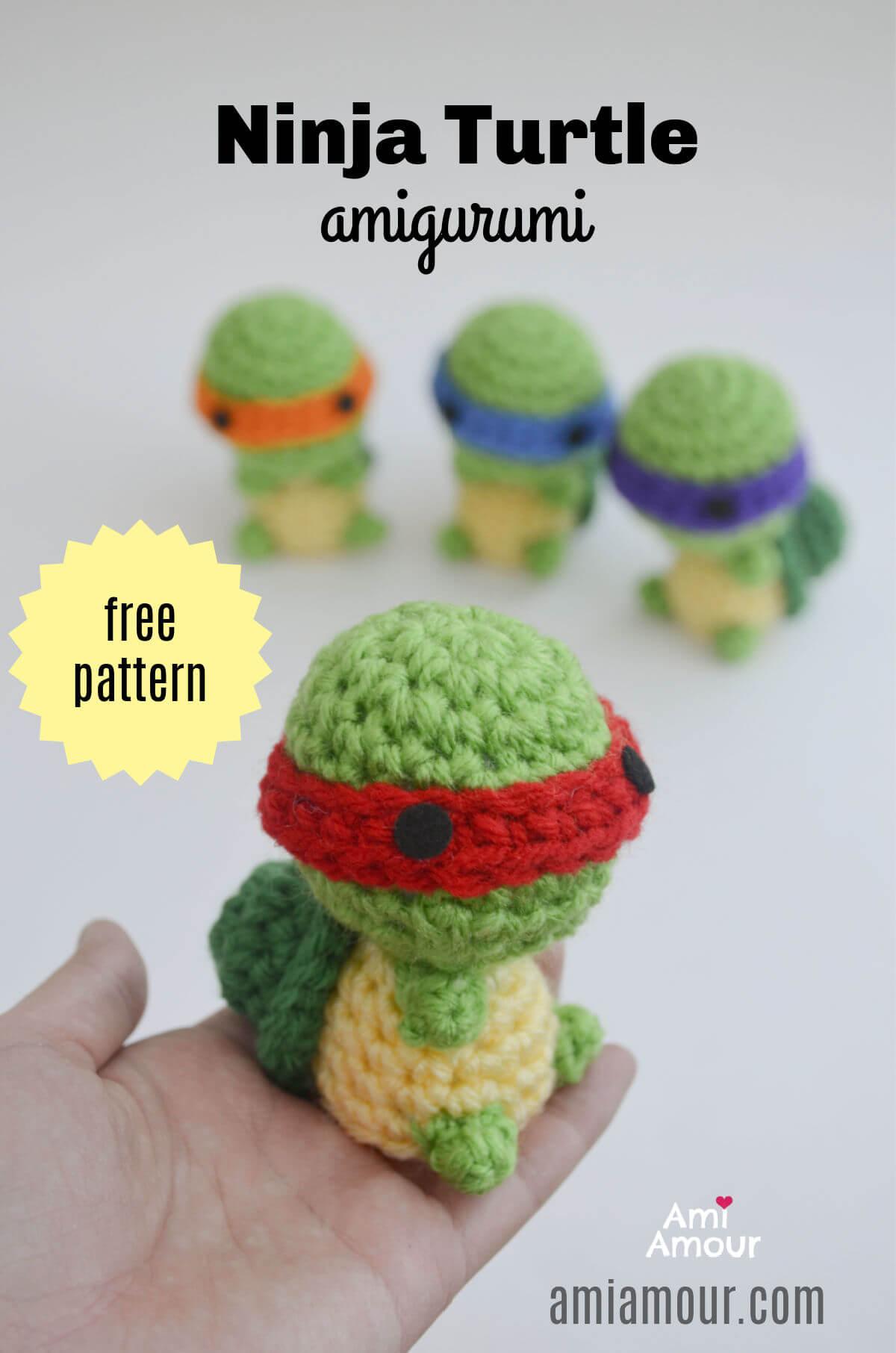 Nina Turtle - Free Amigurumi Pattern